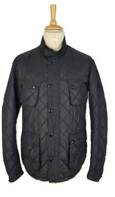 Barbour Mens Black Limited Edition To Ki To Motor Cycling Quilt Jacket, XL