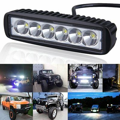 2x Car Truck 18W LED Work Light Bar Reversing Spot Lamp Boat 4WD 12V 24V WD