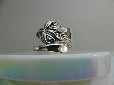 Sterling Silver spoon RING s 5 3/4 ORCHID ELEGANCE Flower Floral Jewelry # 6268