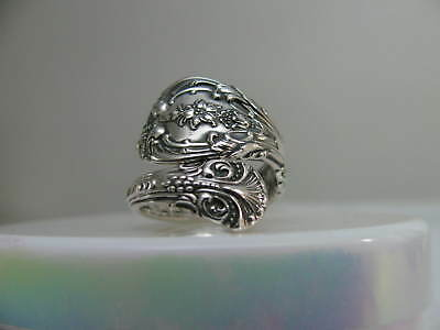 Sterling Silver spoon RING s 5 3/4 KING EDWARD # 6270 Floral Jewelry