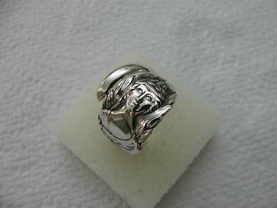Sterling Silver spoon RING s 7.5 ANGEL Girl Jewelry # 6272