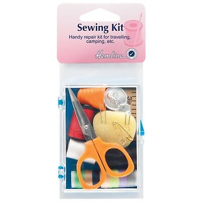 Hemline Handy Repair Kit -Sewing Kit For Travelling, Camping, In Box Thread Bnew
