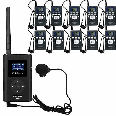 Wireless Tour Guide/Church Translation/Meeting System 1*Transmitter+10*Receiver