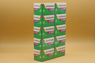 10Pcs Fuji C200 Film 36Exp Fujicolor 35mm Color Print Dated 2021