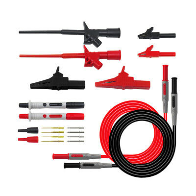 Silicone Digital Multimeter Multi Meter Test Lead Probe Wire Pen Cable Kit