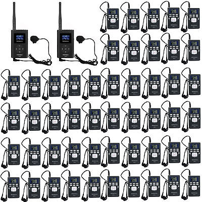 Wireless Tour Guide System for Meeting/Church FM Transmitter+Receiver+Earphone