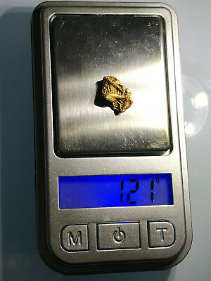 Crystalline GOLD NUGGET specimen RARE Crystalized ALASKA hoppered chevron 1.21g
