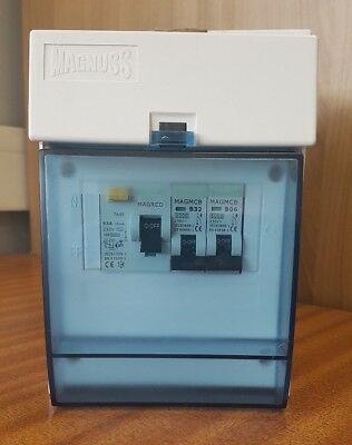 GARAGE CONSUMER UNIT 2P 63A 30mA RCD WITH MCB'S