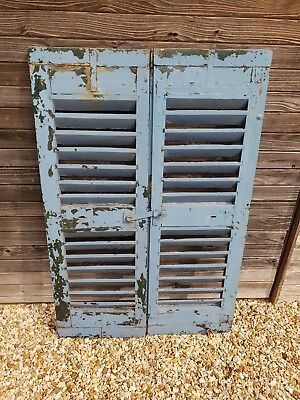 Antique/vintage French louvre shutters with all original catches and hinges