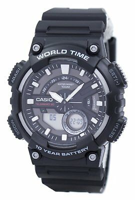 Casio Telememo 30 World Time Alarm Analog Digital AEQ-110W-1AV Mens Watch