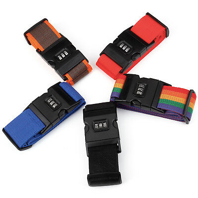 2x 3 Digit Luggage Strap Belt Travel Suitcase Packing Password Lock Belt Secure
