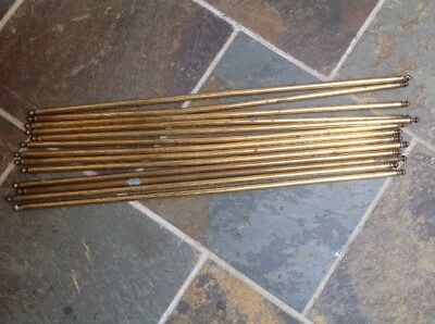 Old Brass Stair Rods 13 Good Quality Reclaimed