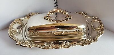 A Vintage yeoman Silver Plated Butter Dish With Beautiful decorated patterns.