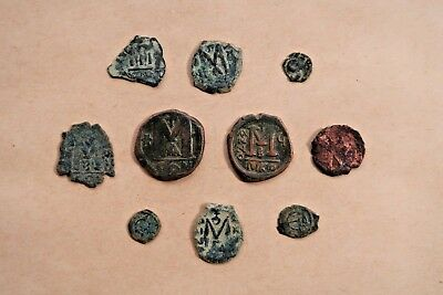 Lot Of 10 Byzantine Bronze Coins. A Nice Collection!