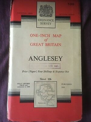 vintage ordnance survey map Anglesey