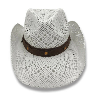 3a7190d047c LACEY Old Stone 100% Paper Straw Ladies Cowboy Drifter Style Sun Hat - AH-