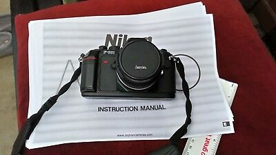 Nikon F301 SLR 35mm Film camera c/w lens and instructions