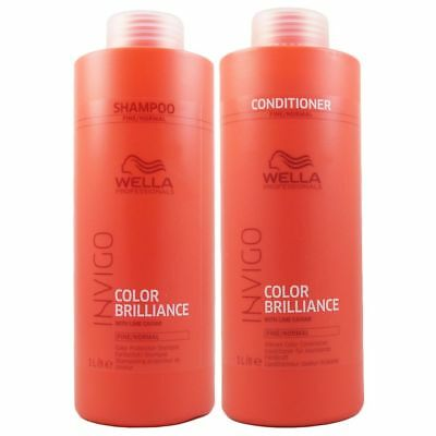 Wella INVIGO Brilliance Shampoo & Conditioner 1000ml feines coloriertes Haar Set