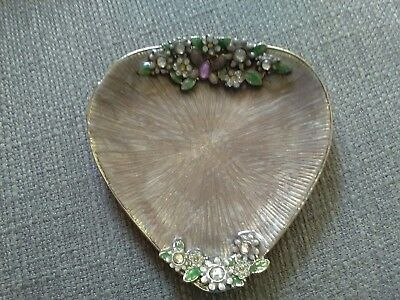 metal jewelled trinket dish