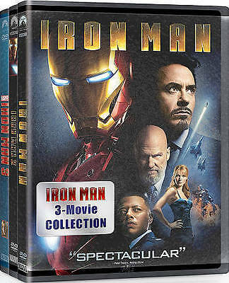 Iron Man 3 Movie Collection (DVD, 2015, 3-Disc Set)