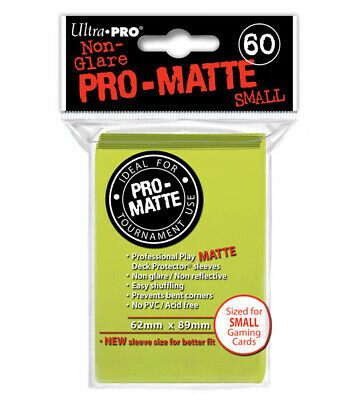 ULTRA PRO 60ct Pro-Matte Bright Yellow Small Deck Sleeves - for Yugioh Vanguard