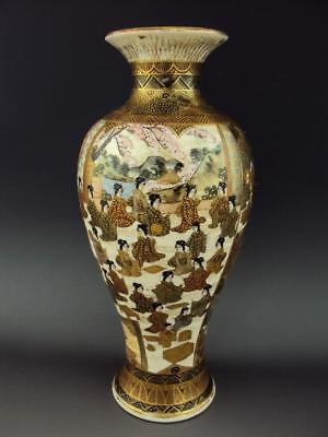 High Quality! Japanese Antiques Oriental Enamel Satsuma Vase Meiji Period