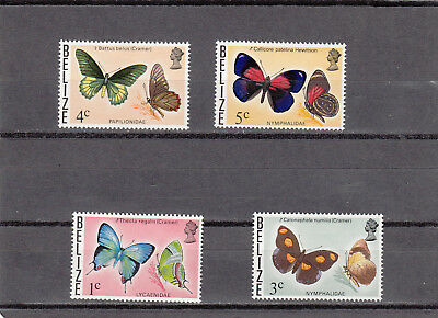 Belize MiNr. 331, 333, 334, 335 Schmetterlinge
