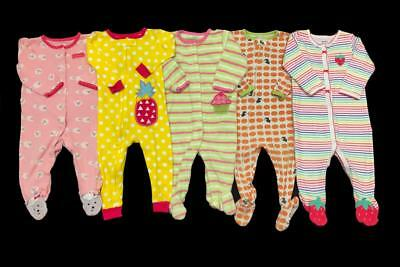 Baby Girl 9 months 12 months CARTER'S SLEEPER PAJAMA Clothes LOT Bundle