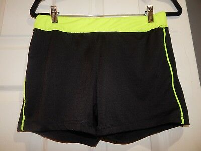 Love Nation Women's Work Out Shorts Black Size L Large