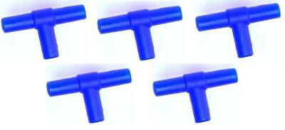 5x Air Line Tee Connectors For Connecting & Joining Aquarium Airline x5