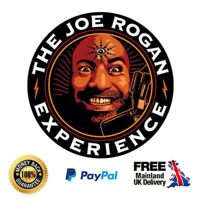 2 x Joe Rogan - Clear Vinyl Stickers Podcast JRE 85mm x 85mm
