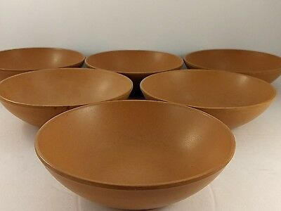 Ellingers Agatized Wood Salad Bowls LOT of 6