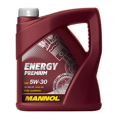 MANNOL Energy Premium 5w30 Fully Synthetic Car Oil Low Saps API SN/CF C3 - 5L