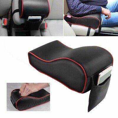 1pc Universal PU Leather Car Armrest Box Mat Console Pad Line Cushion Cover