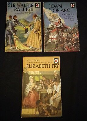 ⭐Vintage & Retro⭐ 3 x Ladybird History Books *FREE P&P* LOT 5 bundle Joblot RARE