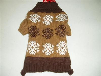 Pet Central Brown Tan Dog Knit Hunter Sweater Size X-Small