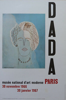 Dada Tres Rare Affiche D'exposition Musee National D'art Moderne Paris 1966-67