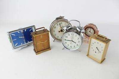7x Vintage/Retro Hand Wind Mantle/Wall Carriage Clocks inc Goliath Repeater