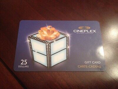 $25 Cineplex Gift Card - Lot 2