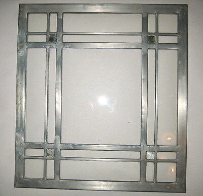 Antique Clear 12 X 11 Leaded Glass Panel Stained Glass Window Craftsman Tudor #1