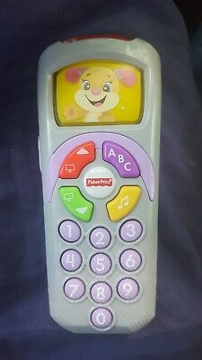 Fisher Price Musical Dog Talking Lightup Cell Phone Remote Baby Toy EUC