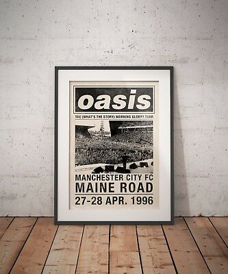 OASIS 1996 Maine Road Whats the Story Morning Glory Tour A3 Digital Art Print