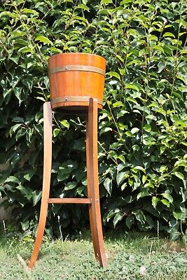 Antique Edwardian Jardiniere Plant Stand With Original Liner