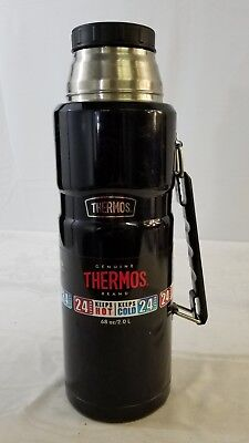 Thermos Stainless 68oz / 2L Vacuum Insulated Beverage Bottle Midnight Blue