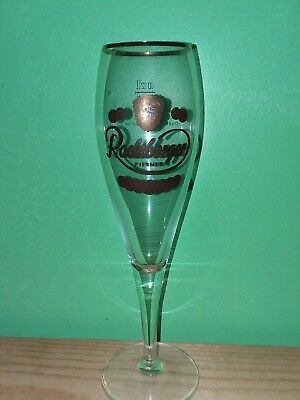 Radeberger pilsner beer glass long stem.