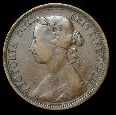 1889 Great Britain Half 1/2 Penny KM# 754