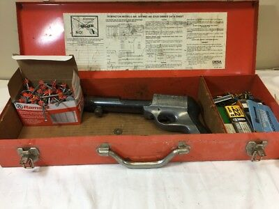 Remington 482 Powder Actuated Ramset Tool with Fasteners and Power Loads