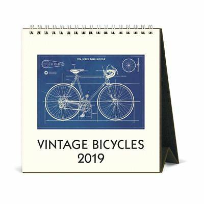 Cavallini Papers & Co. Desk Calendar Bicycles, Multicolour 2019