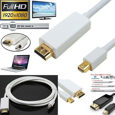 1.8M Mini Display Port DP to HDMI Adapter Cable for Macbook Surface PC Computer