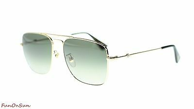 3a13a20254d Gucci Men Square Sunglasses GG0108S 006 Gold Brown Gradient Polarized Lens  55mm